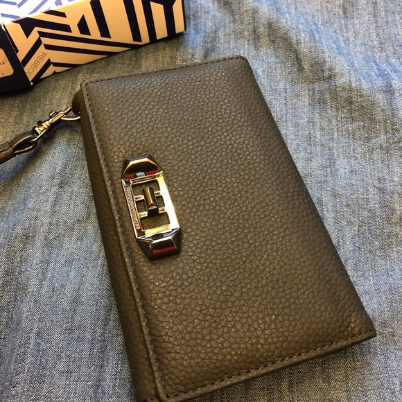 uk availability 759ab 10059 Rebecca Minkoff IPhone X Wristlet NWT